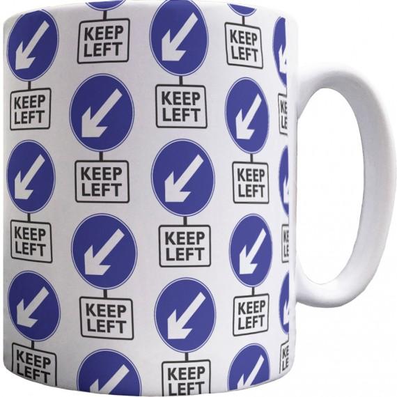 Keep Left Pattern Mug