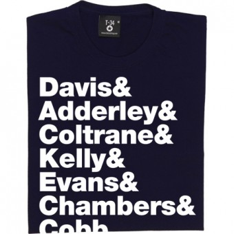 "Miles Davis ""Kind Of Blue"" Line-Up T-Shirt"