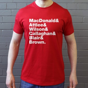 Labour Prime Minister Line-Up T-Shirt