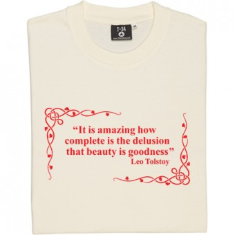 Leo Tolstoy Beauty Delusion Quote T-Shirt