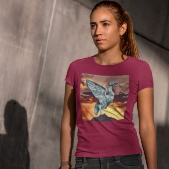 Liver Bird at Sunset by Hadrian Richards T-Shirt