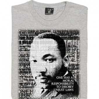 "Martin Luther King ""Unjust Laws"" Quote T-Shirt"