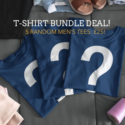 "Men's ""5 For £25"" Random T-Shirt Bundle Offer"