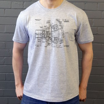 Mercury Spacecraft Diagram T-Shirt