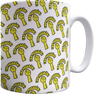 """No Pasarán """"Fist"""" Pattern Mug"""