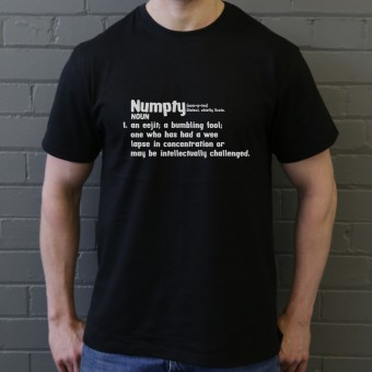 Numpty Definition T-Shirt