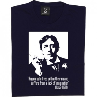 "Oscar Wilde ""Within Their Means"" Quote T-Shirt"