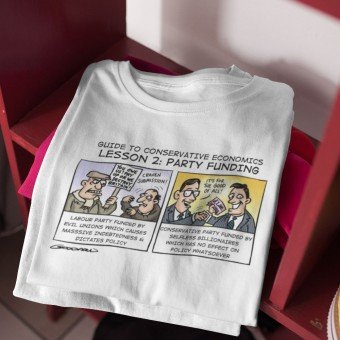 Guide To Conservative Economics: Party Funding T-Shirt