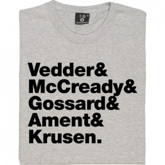 Pearl Jam Line-Up T-Shirt