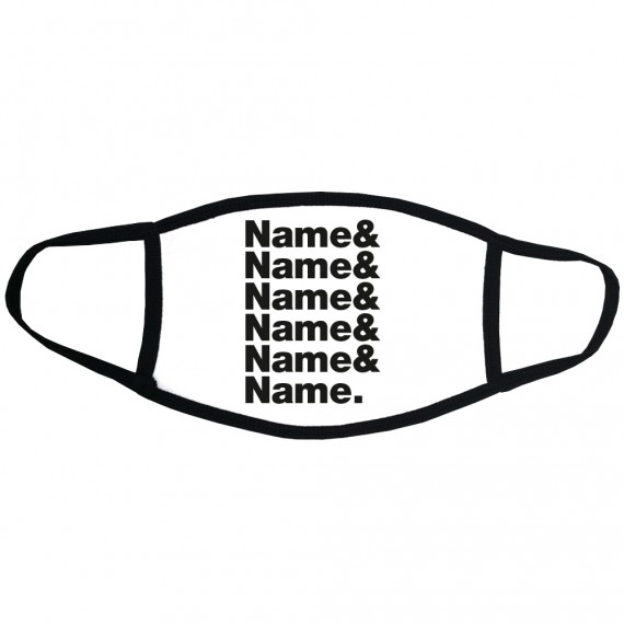 Personalised Line-Up Face Mask
