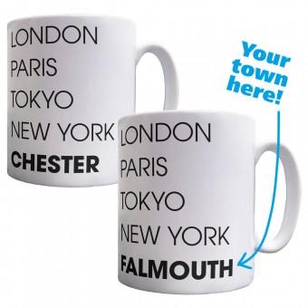 Personalised London, Paris, Tokyo, New York Ceramic Mug