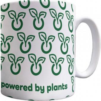 Powered By Plants Pattern Mug