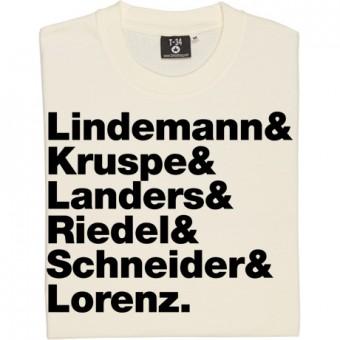 Rammstein Line-Up T-Shirt