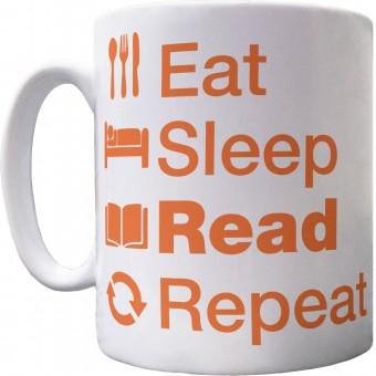 Eat Sleep Read Repeat Ceramic Mug