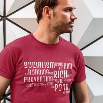"Tom Mann ""Robbing The Rich"" Quote T-Shirt"