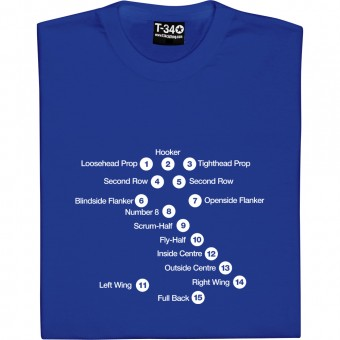 Rugby Union Positions T-Shirt