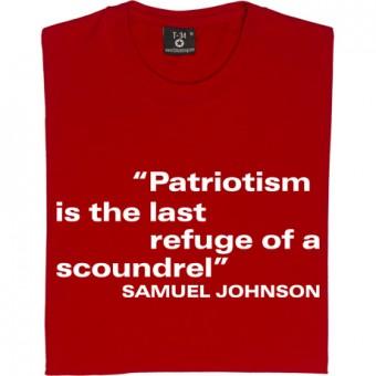 "Samuel Johnson ""Patriotism"" Quote T-Shirt"