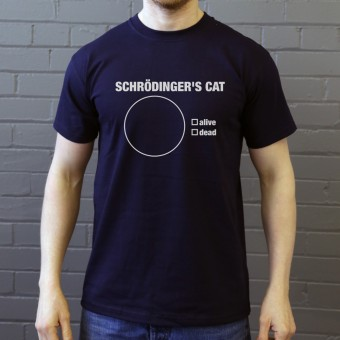 Schrodinger's Cat Pie Chart T-Shirt