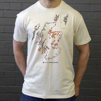 Scottish Whisky Map T-Shirt