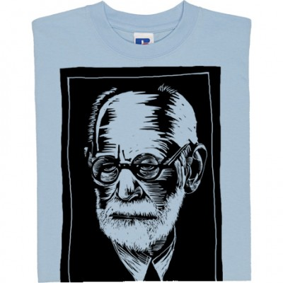 Sigmund Freud Woodcut