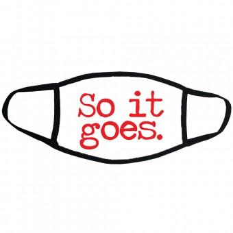 "Kurt Vonnegut ""So It Goes"" Face Mask"
