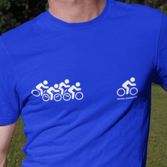 Social Distancer (Cyclist) T-Shirt