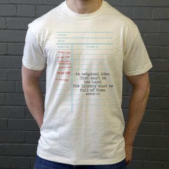 """Stephen Fry """"An Original Idea"""" T-Shirt"""