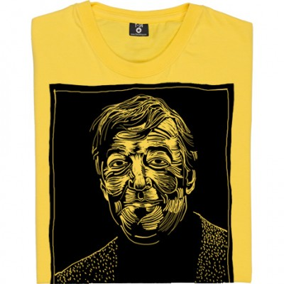 Stephen Fry Woodcut