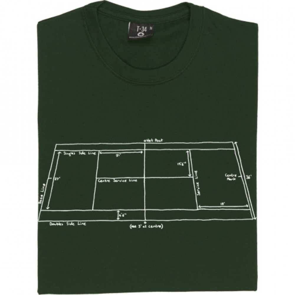 Tennis Court Diagram T