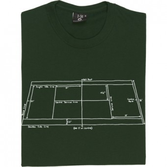 Tennis Court Diagram T-Shirt