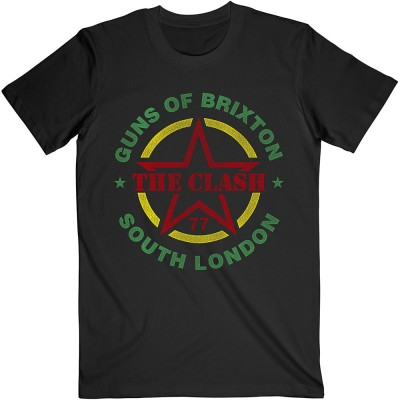 """The Clash """"The Guns of Brixton"""" Officially Licenced T-Shirt"""