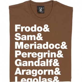 The Lord Of The Rings (The Nine Walkers) Line-Up T-Shirt