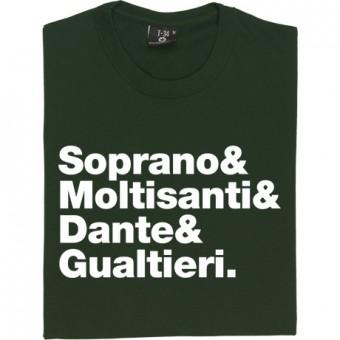 The Sopranos Line-Up T-Shirt
