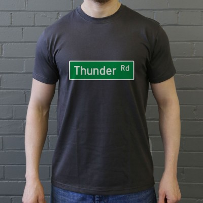 Thunder Road Street Sign