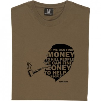 "Tony Benn ""Money"" Quote T-Shirt"