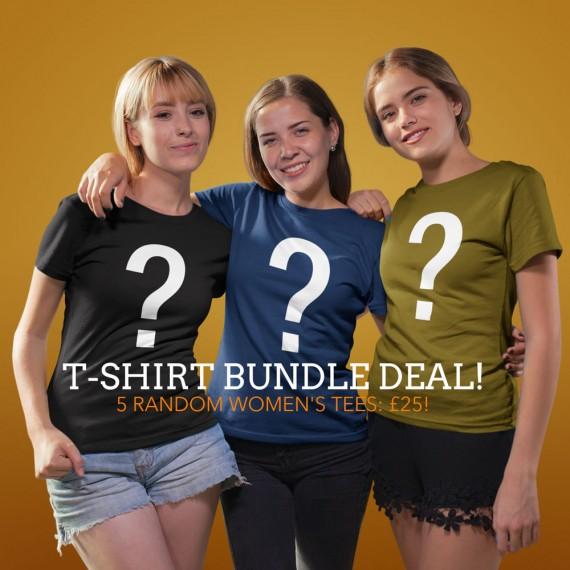 """Women's """"5 For £25"""" Random T-Shirt Bundle Offer"""