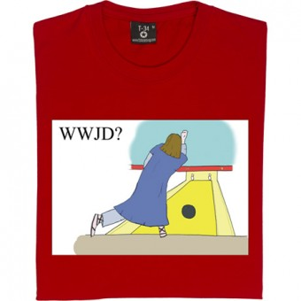 What Would Jesus Do: Bowling T-Shirt