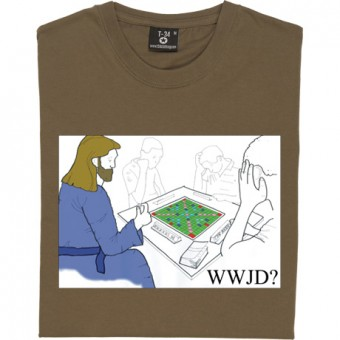 What Would Jesus Do: Scrabble T-Shirt