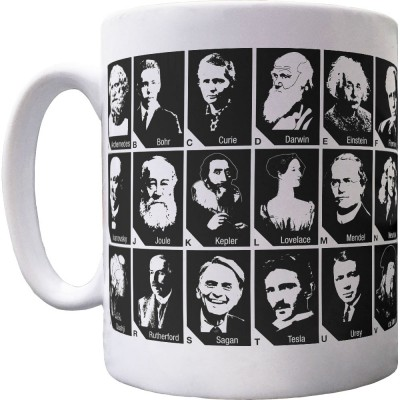 A-Z Of Scientists Ceramic Mug