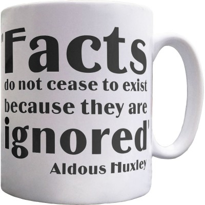"Aldous Huxley ""Facts"" Quote Ceramic Mug"