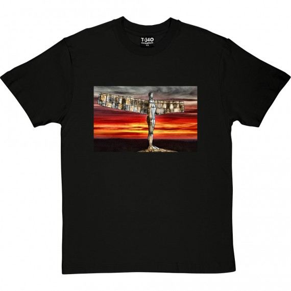 The Angel Of The North At Sunset by Hadrian Richards T-Shirt