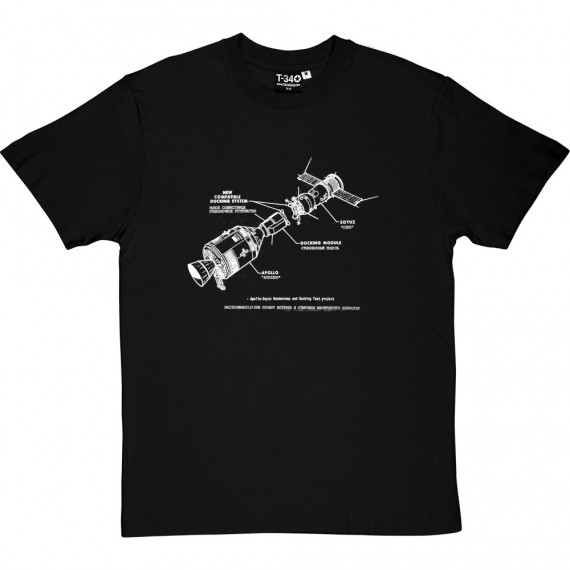 Apollo-Soyuz Docking Diagram T-Shirt
