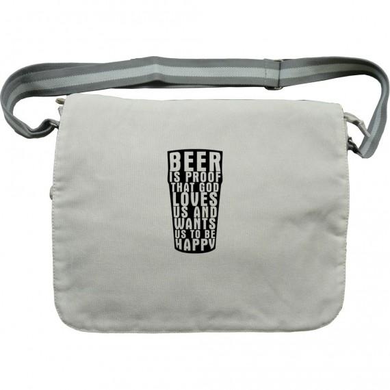"Benjamin Franklin ""Beer"" Quote Canvas Bag"