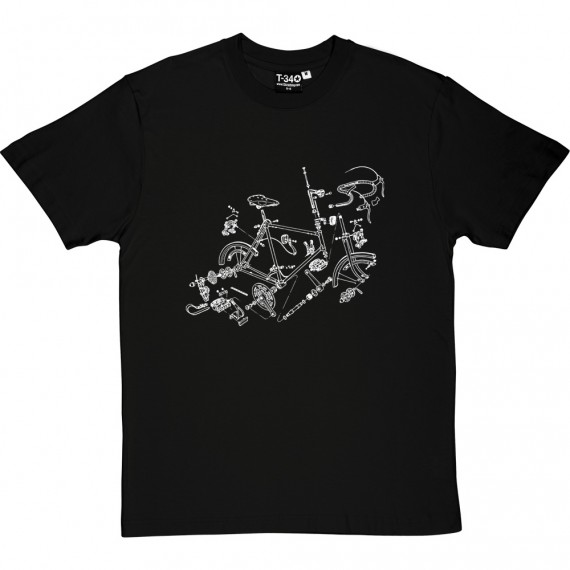 Bicycle Exploded Diagram T-Shirt