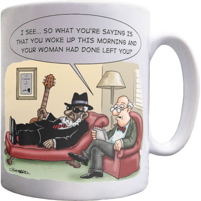 Bluesman In Therapy Ceramic Mug