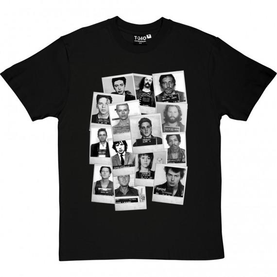Classic Celebrity Mugshots T-Shirt