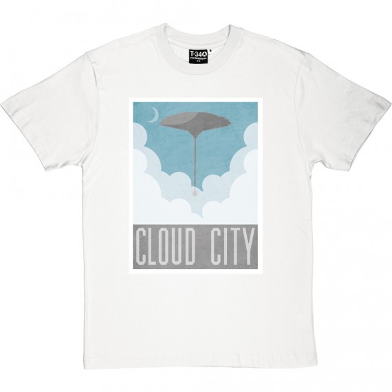 Cloud City Travel Poster T-Shirt