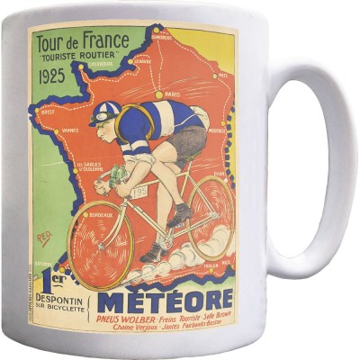 Météore Cycles 1925 Tour de France Poster Ceramic Mug