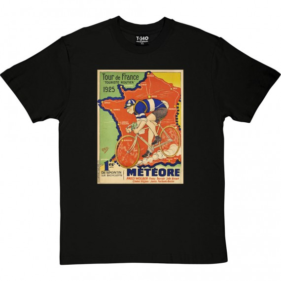 Météore Cycles 1925 Tour de France Poster T-Shirt