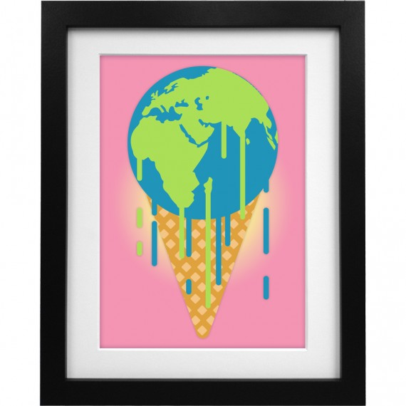 Earth is Melting Art Print